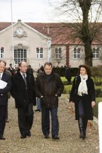 Francis Pruche Adjoint au Maire Senlis au Développement Economique - Emmanuel Berthier Préfet de l'Oise - Pascale Loiseleur Maire de Senlis