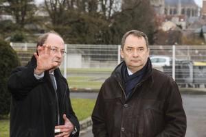 Francis Pruche Adjoint au Maire Senlis au Développement Economique et Emmanuel Berthier Préfet de l'Oise